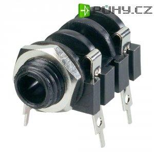 Jack konektor 6,35 mm mono BKL Electronic 1109016, zásuvka vestavná horizontální, 2pól., černá