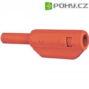 Lamelový konektor Ø 2 mm MultiContact 65.9182-22, zástrčka rovná, červená