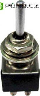 Klopný páčkový spínač SCI TA203A1, 250 V/AC, 3 A, 2x zap/vyp/zap, 1 ks