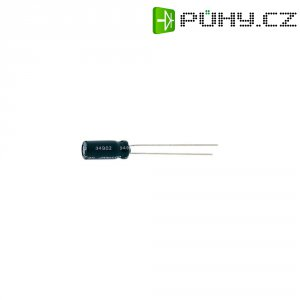 Kondenzátor elektrolytický, 47 µF, 16 V, 20 %, 11 x 5 mm