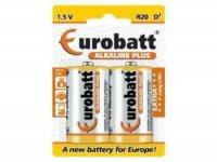Baterie LR20-BP2 EUROBATT Alkalická, 2ks