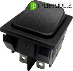 Kolébkový spínač s aretací SCI R13-87BC-02, 250 V/AC, 10 A