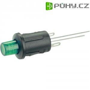 Tlačítkový spínač R13-529BL zelená LED