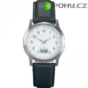 Ručičkové náramkové DCF hodinky Eurochron EFAU 1503, kožený pásek