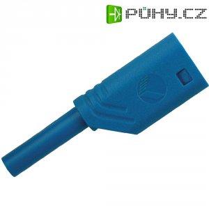 Laboratorní konektor Ø 2 mm SKS Hirsch MST S WS 30 Au (975090702), zástrčka rovná, modrá