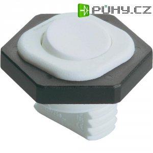 Kolébkový spínač interBär 8014-001.01, 1x vyp/zap, 250 V/AC, 6 A, hnědá