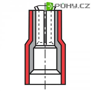 Faston zásuvka Vogt Verbindungstechnik 389805, 2.8 mm x 0.5 mm, žlutá, 1 ks