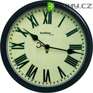 Analogové nástěnné hodiny Techno Line Retro WT 7050, Ø 50 x 13 cm, hnědá