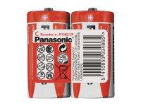 Baterie R14 (C) Red zinkouhlíková, PANASONIC 2S