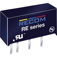 DC/DC měnič Recom RE-0515S/P (10003047), vstup 5 V/DC, výstup 15 V/DC, 66 mA, 1 W