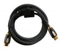 Kabel HDMI - HDMI 2m HQ (gold,ethernet,filtr) 4K