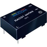 Síťový zdroj do DPS Recom International RAC01-05SC, 3,3 V/DC, 0,3 A, 1 W