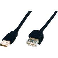 Kabel USB 2.0, USB A/USB zásuvka A, 5 m, Digitus