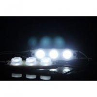 LED modul-čočkovitý-3xLED(2835)-BÍLÁ (EXTRA STUDENÁ),12V