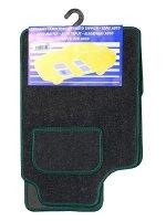 Autokoberce textilní bar.obšité UNI,zelené