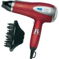 Fén na vlasy AEG HTD 5584, 2200 W, červená (metalíza), stříbrná