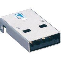 USB konektor 2.0 vestavný do DPS Lumberg 2410 07, zástrčka Typ A, SMT