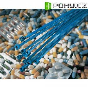 Stahovací pásek s 10% obsahem kovu HellermannTyton MCT18R, MCT-serie, 100 x 2,5 mm, modrá