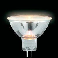 Halogenová žárovka Sygonix, 12 V, 10 W, GU5.3, Ø 50 mm, stmívatelná, teplá bílá