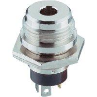 Konektor jack 3,5 mm Lumberg 1502 04, zásuvka vestavná vertikální, 3pól./stereo, stříbrná