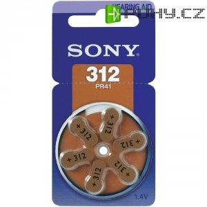 Knoflíková baterie do naslouchadel ZA312 Sony, zinek-vzduch, 6 ks