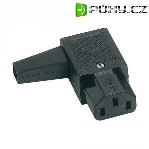 Úhlová síťová IEC zásuvka C13 K+B, 250 V, 10 A, 43R011211
