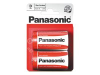 Baterie R20 (D) Red zinkouhlíková, PANASONIC 2BP