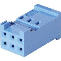 Pouzdro HE13/14 TE Connectivity 1-281839-2, zásuvka rovná, 2,54 mm, 3 A, modrá
