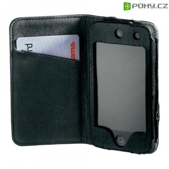 Kožené pouzdro Hama Delicate pro iPod touch, 4.generace, černé - Kliknutím na obrázek zavřete