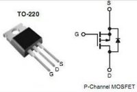IRF9520 P MOSFET 100V/6,8A 60W 0,6Ohm TO220