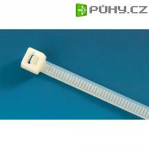 Stahovací pásky HellermannTyton T80R-PA66-NA-C1, 4,6 x 205 mm, 100 ks, transparentní