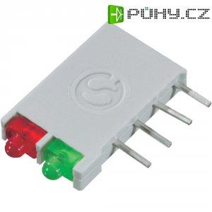 LED blok 2nás Signal Construct, DBI01322, 12 mm, zelená/zelená
