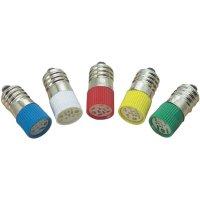 LED žárovka E10 Barthelme, 70113330, 60 V, 1,6 lm, zelená
