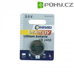Knoflíková baterie Conrad energy CR2450, lithium