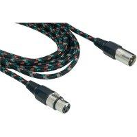 Retro XLR kabel, XLR(F)/XLR(M) , 10 m, vícebarevný