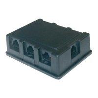 ISDN Y adaptér 8p4c, AWG rovný, černá, 1x RJ45 (F) 8p4c / 6x RJ45 (F) 8p4c