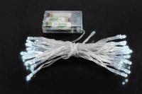 Vánoční osvětlení 40 x LED - studená bílá barva