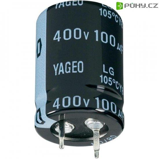 Snap In kondenzátor elektrolytický Yageo LG400M0047BPF-2220, 47 µF, 400 V, 20 %, 20 x 22 mm - Kliknutím na obrázek zavřete
