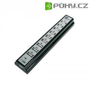USB hub s napájením LogiLink UA0096, 10x slot USB 2.0