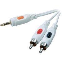 Propojovací kabel Speaka jack 3,5 mm/2 x cinch 1,5 m - bílý