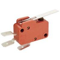 Mikrospínač MARQUARDT série 1005, 10 A, 6,3 mm, rovná p..