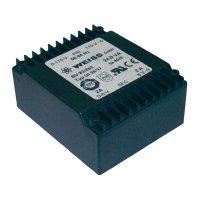 Plochý transformátor Weiss UI 39, 2x 115 V/2x 21 V, 2x 572 mA, 24 VA