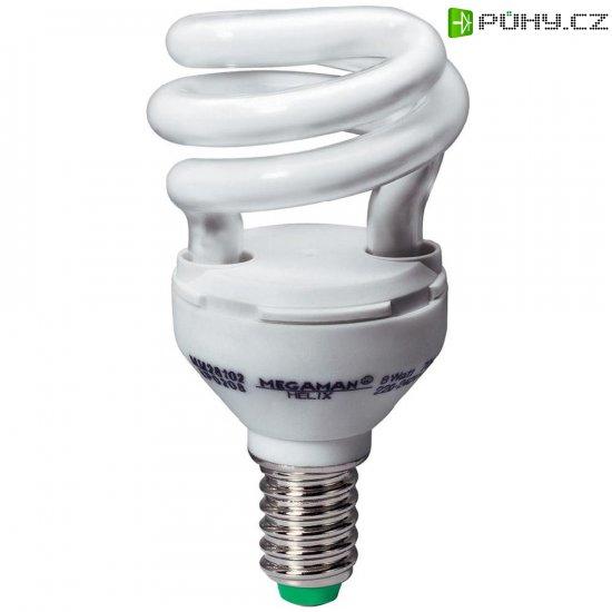 Úsporná žárovka trubková Megaman Helix E14, 8 W, teplá bílá - Kliknutím na obrázek zavřete
