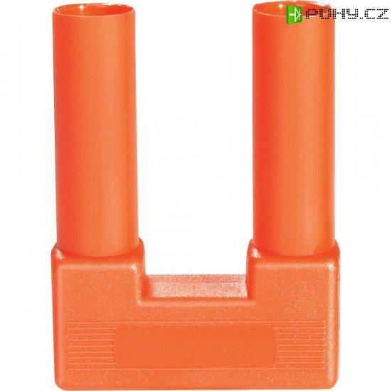 Bezpečnostní zkratovacíkonektor, plně izolovaný SI-FK 19/4 červený - Kliknutím na obrázek zavřete
