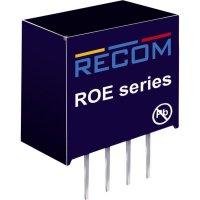 DC/DC měnič Recom ROE-0505S (10016268), vstup 5 V/DC, výstup 5 V/DC, 200 mA, 1 W