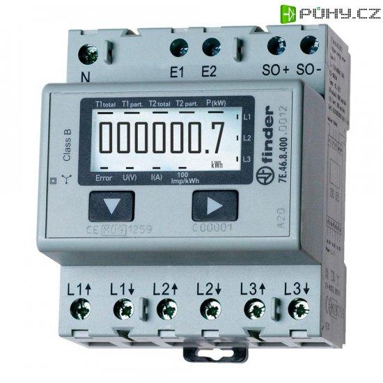 Třífázový elektroměr Finder 7E.46.8.400.0002, 65 A, na DIN lištu - Kliknutím na obrázek zavřete