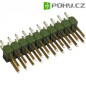 Kolíková lišta MOD II TE Connectivity 5-826658-0, přímá, 2,54 mm, zelená