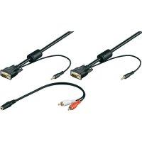 VGA, Cinch kabel, zástrčka/jack konektor 3,5 mm, černý, 10 m