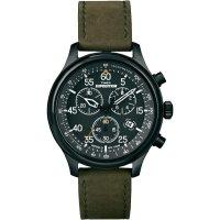 Ručičkové náramkové hodinky Timex Expedition Field Chrono, T49938, kožený pásek
