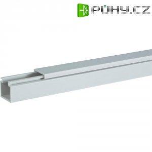 Elektroinstalační lišta Hager, LF4006007035, 40x60 mm, 2 m, světle šedá